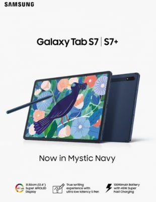 Galaxy Tab S7, Tab S7+ launched in 'mystic navy' colour