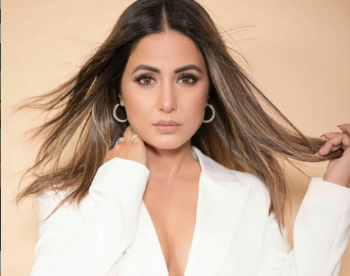 hina khan is a vision in white