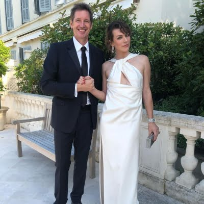 Paul WS Anderson with wife Milla Jovovich