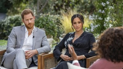 Meghan Markle with Prince Harry in Oprah interview