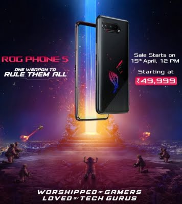 ASUS launches ROG Phone 5 series in India