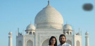 Telugu star Allu Arjun with wife Sneha