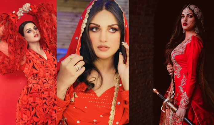Himanshi Khurana's glamorous red outfits will make you drool