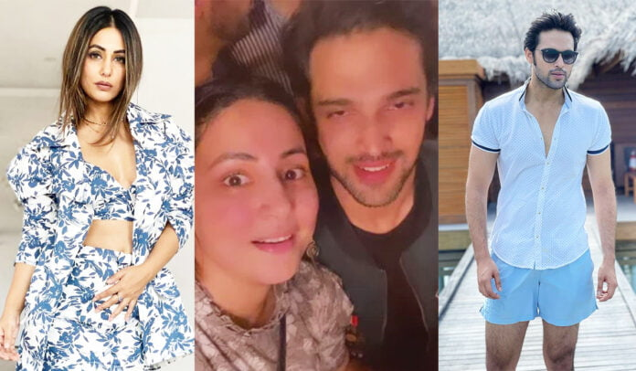 Hina Khan celebrates with Parth Samthaan on his 30th birthday