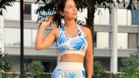 Hina Khan glows in her monday motivation outfit