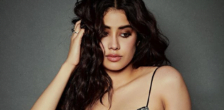 Janhvi Kapoor slaying in high slit black dress