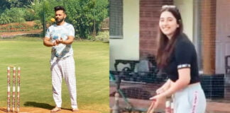 Rahul Vaidya plays cricket with girlfriend Disha Parmar and calls himself 'Virat Kohli lite'