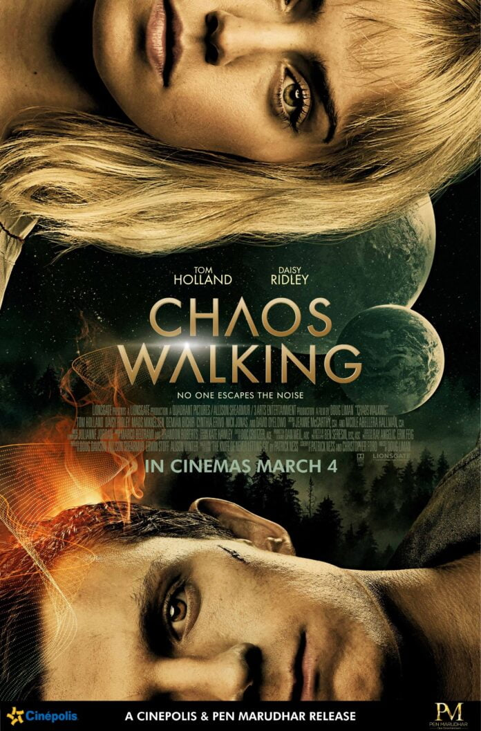 Tom Holland Daisy Ridley Chaos Walking release date poster