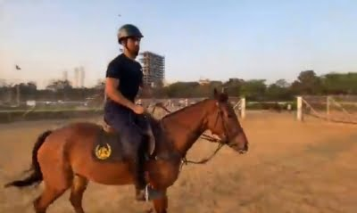 Vicky Kaushal takes to horse riding