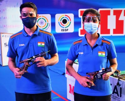 World Cup: India's rapid fire pistol mixed team wins gold