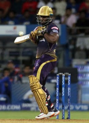 Russell's 45 not out takes KKR to 154/6 vs DC