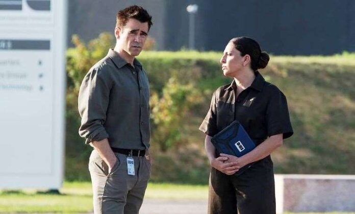 Colin Farrell in a Voyagers still on Instagram