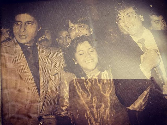 Ekta Kapoor with Amitabh Bachchan and dad Jeetendra in a throwback pic