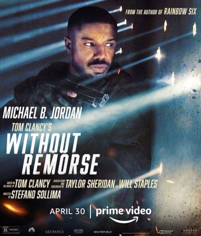 Micheal B Jordan in Tom Clancy Without Remorse poster