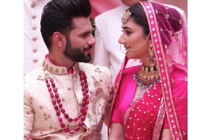 Rahul Vaidya, Disha Parmar spark off wedding rumours with music video pic | news agency pic