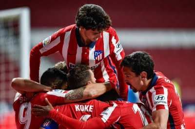 Atletico's lead cut to one point after 1-1 draw with Betis