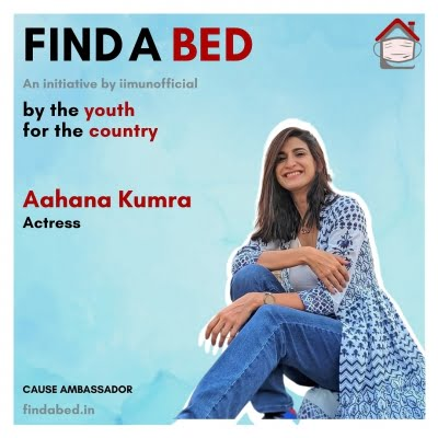 Aahana Kumra backs Find A Bed initiative for Covid-affected