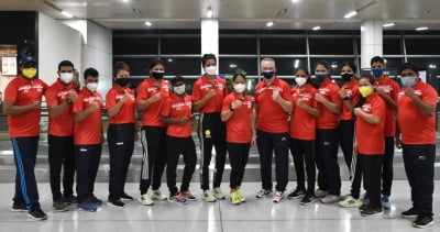 Indian boxing contingent lands in Dubai for Asian Championships