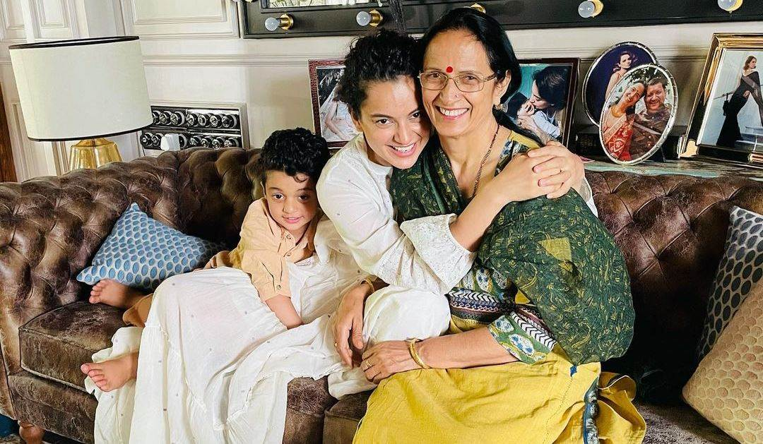 Kangana Ranaut spends time with family after recovering from Covid