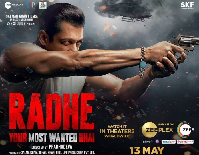 Salman Khan in 'Radhe Your Most Wanted Bhai' poster