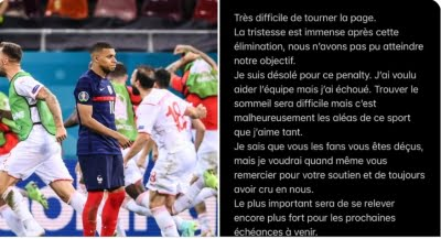 Mbappe 'immensely sad' after failed penalty against Switzerland