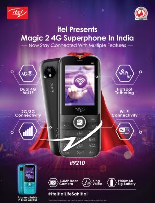 itel launches 'Magic 2' 4G superphone with Wi-Fi tethering in India