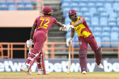 Evin Lewis guides West Indies to big T20I win over South Africa