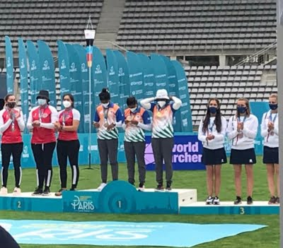 Indian recurve women's team wins gold in World Cup
