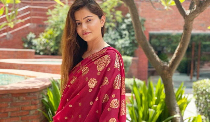 Rubina Dilaik flaunts her traditional Anarkali suit in black and red giving us Monday motivation