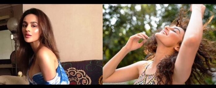 Seerat Kapoor - curly look or straight look, what do you think is better?