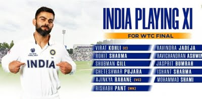 WTC final: India include two spinners in the playing XI
