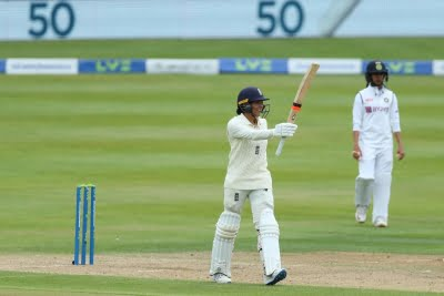 One-off women's Test: England 357/8 at lunch vs India