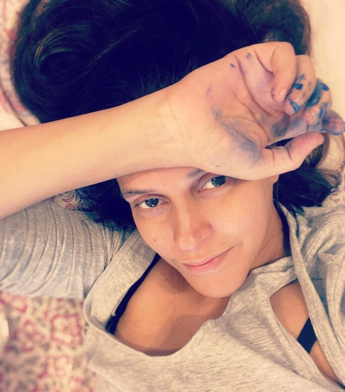 Neha Dhupia's baby loves painting here! check out