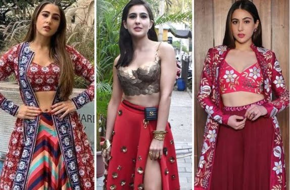 Which of the three red fusion looks of Sara Ali Khan is your favorite?