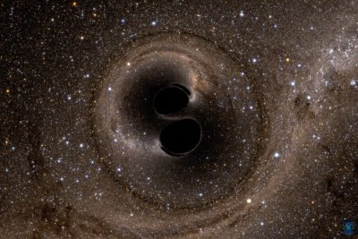 Scientists detect light from behind black hole