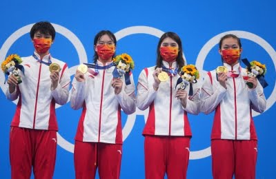 Olympics: China shatters world record to win women's 4x200m freestyle relay