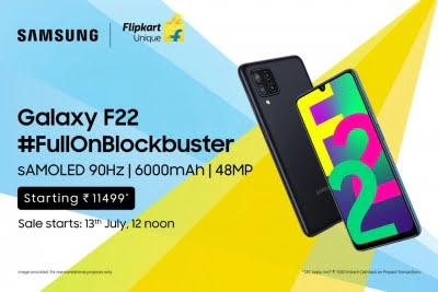 Affordable Samsung Galaxy F22 with sAMOLED display now in India
