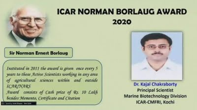CMFRI scientist wins ICAR award for research on seaweed