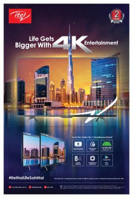 itel launches 4K Android TV range in India