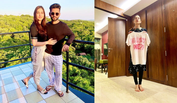 Rahul Vaidya is all set to frame 'Marry Me' Tshirt with which his proposed his love Disha Parmar