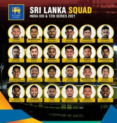 Three uncapped players in Sri Lanka squad for India series