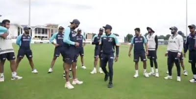 Indian Test team uses innovative method to practice catching
