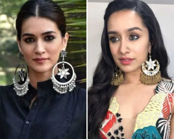 Kriti Sanon's silver earrings or Shraddha Kapoor's gold earrings - which would you prefer?