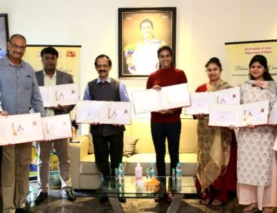 Special postal cover released on Sindhu