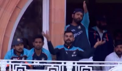 Kohli's gesture over fading light on Day 4 at Lord's goes viral
