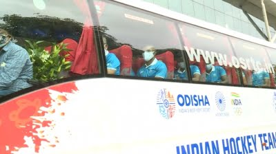 Indian hockey teams arrive in Odisha; CM to felicitate them