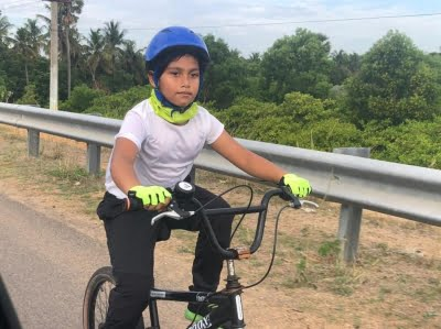Class 2 student 'Rian the Lion' eager to enter 200 km cycling event