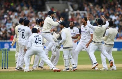 2nd Test: Bowlers shine with bat too as India beat England by 151 runs at Lord's (ld)
