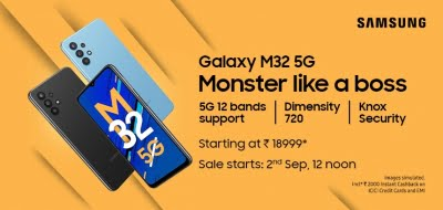 Galaxy M32 5G with a quad rear camera setup, 5000mAh battery launched