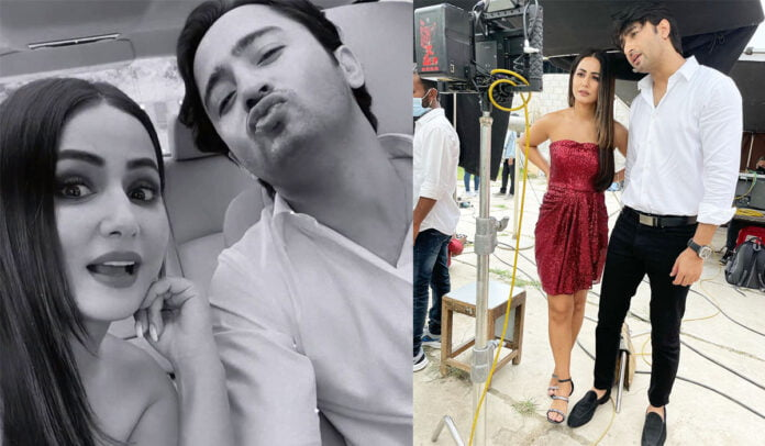 Hina Khan shares BTS pictures with Shaheer Sheikh from their upcoming project